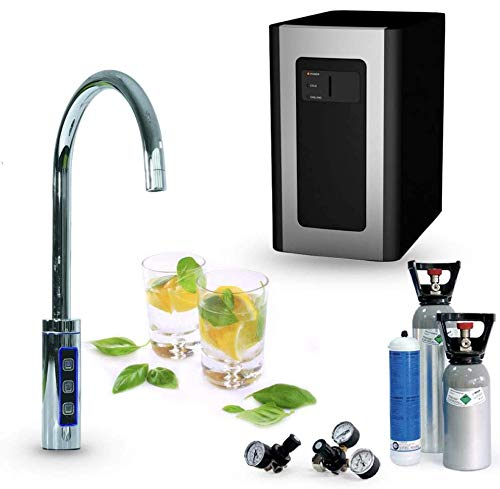 Untertisch-Trinkwassersystem SPRUDELUX® Blue Diamond inklusive 3-Wege-Zusatzarmatur. Profi-Wassersprudler...
