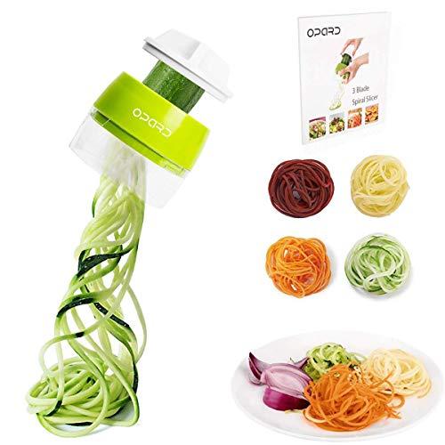 Opard Spiralschneider Hand für Gemüsespaghetti, 4 in1 Gemüseschneider,Gemüse Spiralschneider Gemüsehobel...