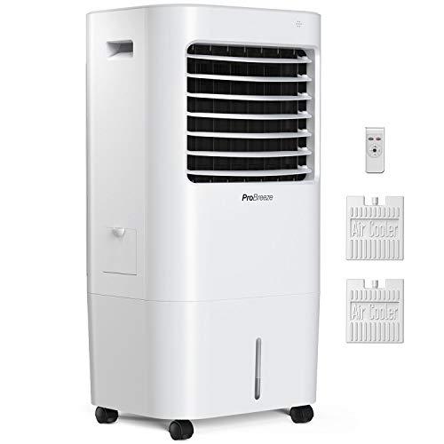 Pro Breeze 10 Liter Mobiler Luftkühler 4-in-1 mit 3 Stufen, LED Anzeige + Fernbedienung - Mobiles Klimagerät...