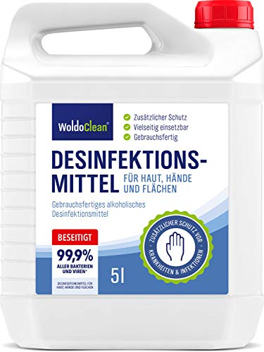 Desinfektionsmittel für Hände, Haut und Flächen 5l - anwendungsfertig und begrenzt viruzid