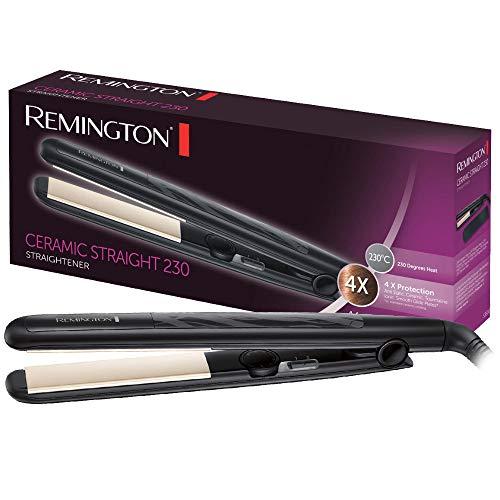 Remington Glätteisen Ceramic Straight (4-facher Schutz: antistatische Keramik-Turmalin-Beschichtung...
