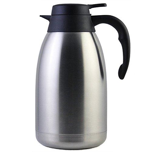 2 Liter Edelstahl Thermoskanne, Teekanne, Kaffeekanne, und Isolierkanne mit 12 Stunden Wärmespeicherung –...