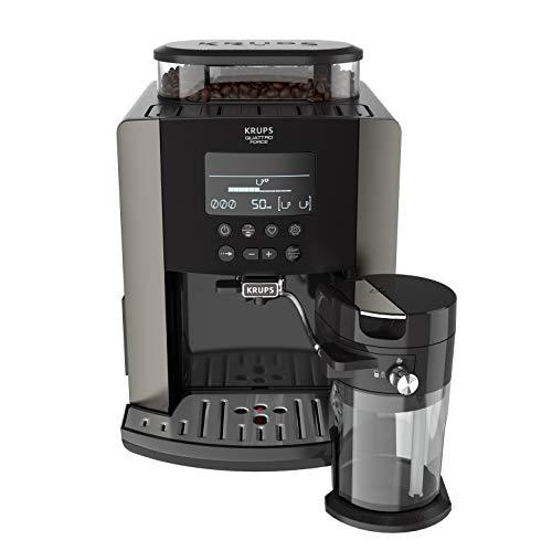 Krups EA819E Arabica Latte Quattro Force Kaffeevollautomat (1450 Watt, Wassertankkapazität: 1,7 Liter,...