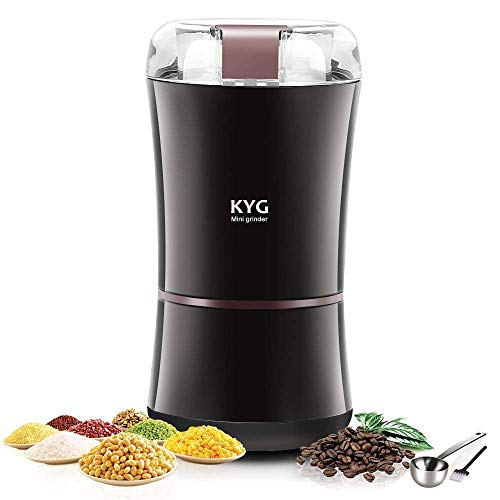 KYG Kaffeemühle 300W Elektrische Kaffeemühle Kaffeebohnen Nüsse Gewürze Getreide Mühle mit...