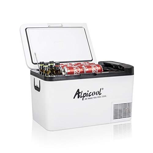 Alpicool K25 25 Liter Kühlbox Kühlschrank Gefrierbox Mini tragbare Elektrische Kühlbox 12/24V DC für Auto,...