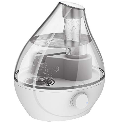 Homasy 1.6L Knob Schalter, BPA-freie Befeuchter für Schlafzimmer, 22dB Flüsterleise, Luftbefeuchter für die...
