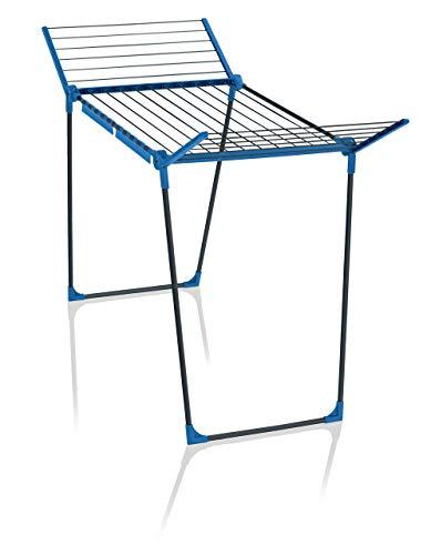 Leifheit Standtrockner Pegasus 180 Solid Blau Color Edition, 18m Trockenlänge für bis zu 2 Wäscheladungen,...