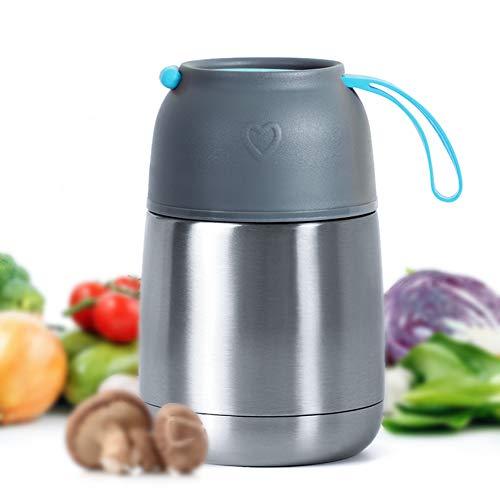 MUHOO Thermobehälter Speisebehälter Lunchbox Edelstahl Isolierbehälter Speisebehälter Speisegefäß BPA...