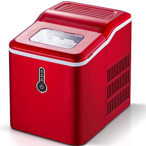 Sunmaki Eiswürfelmaschine, 12kg Eiswürfel 24h, Eiswürfelbereiter Edelstahl, 1.5L Wassertank, Eismaschine...
