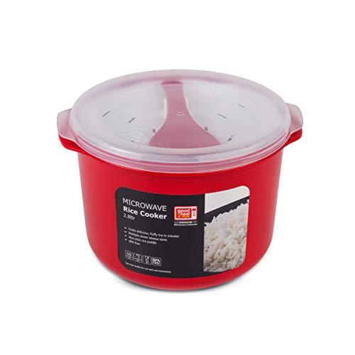 Good 2 Heat Plus 4308 Mikrowellen-Reiskocher 2,8 l, Kunststoff, rot