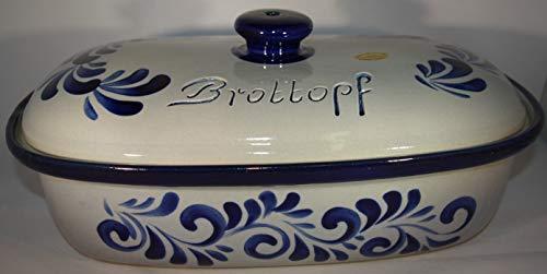 Töpferei Seifert Brottopf grau blau Gross 40 cm   Brotkasten   Brotbox   Brotdose   Brotbehälter   Steinzeug...