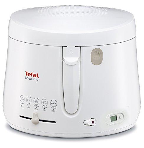 Tefal FF1001 Maxi Fry Fritteuse mit Timer (1.900 Watt, Kapazität 1,2 kg, Fritteuse mit Öl, wärmeisoliert,...