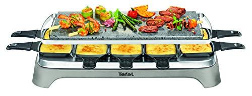 Tefal PR457B Pierrade Raclette | 1350 Watt | Grill-Platte aus Stein + 10 antihaftbeschichtete Pfännchen |...