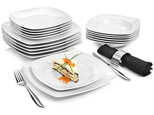 Sänger Tafelservice 'Markant' aus Porzellan 18 teilig   Geschirrset beinhaltet Speise-, Suppen- und...