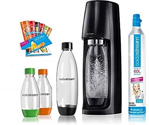 SodaStream Easy Wassersprudler-Set Vorteilspack mit CO2- Zylinder, 2x 1 L PET-Flasche, 2x 0,5 L PET-Flasche,...