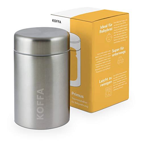 KOFFA® Primus |Thermobehälter für Babybrei & Gläschen |500ml | Edelstahl Thermobecher für unterwegs |...