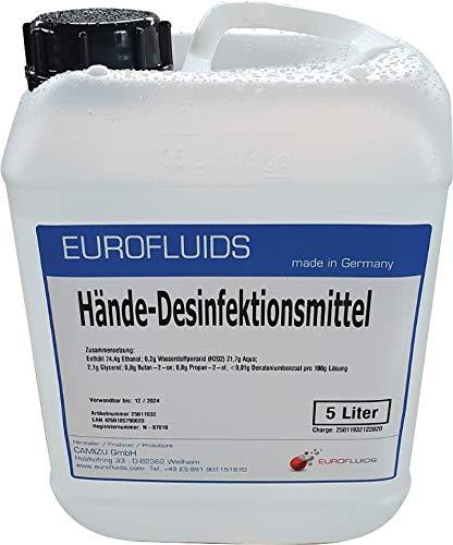Eurofluids Hände Desinfektionsmittel zu hygienischen Hand Desinfektion | 5-Liter-Kanister