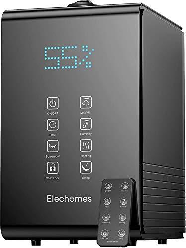 Elechomes Top-Füllung Ultraschall Luftbefeuchter 5.5L, Raumbefeuchter Warm/Kalt Dampf mit Fernbedienung und...