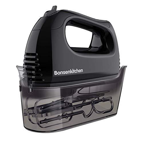 Bonsenkitchen Handmixer, 300W 5 Geschwindigkeiten leistungsstarke Elektrischer Handrührer, mit 2...