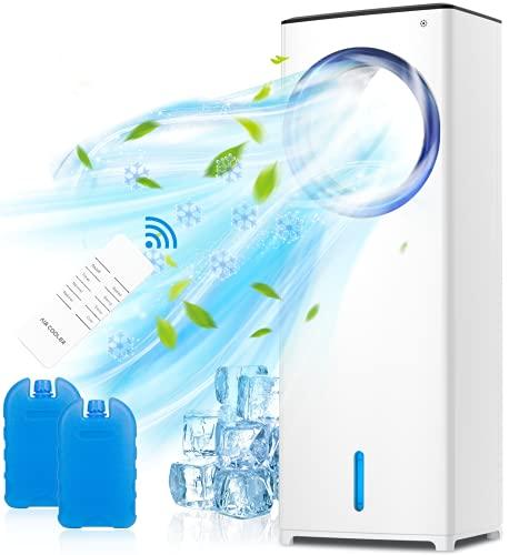 QUARED 4 in 1 mobile Klimagerät Klimaanlage Luftkühler Luftbefeuchter Ventilator, 3,5 l Wassertank, Geringer...