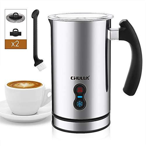 CHULUX Milchaufschäumer Elektrisch Automatischer Edelstahl Milchschäumer, Antihaftbeschichtung, Erhitzen und...
