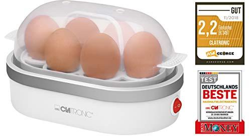 Clatronic EK 3497 Eierkocher, Zubereitung von bis zu 6 Eiern, akkustisches Signal (Summer),...