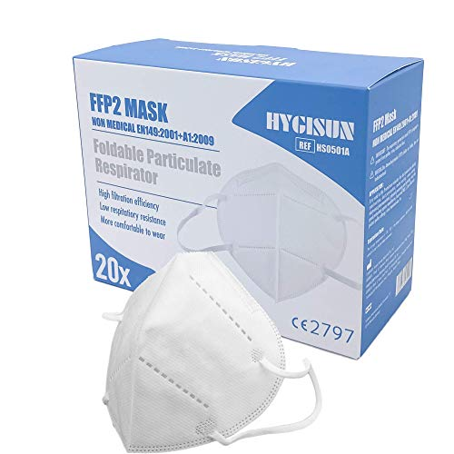 20x Mundschutz Maske FFP2 Maske KN95 DEKRA geprüfte DECADE Atemschutzmaske Mund und Nasenschutz Atemmaske,...