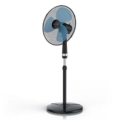 Brandson - Standventilator 40cm - Ventilator höhenverstellbar bis 122 cm - mobiler Lüfter - hoher...