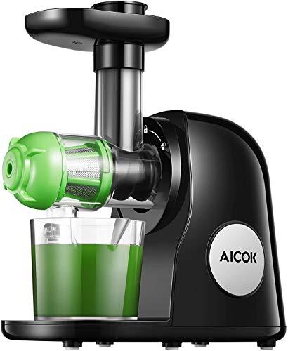 Aicok Slow Juicer BPA-frei Entsafter Gemüse und Obst, Profi Entsafter mit Ruhiger Motor & Umkehrfunktion,...