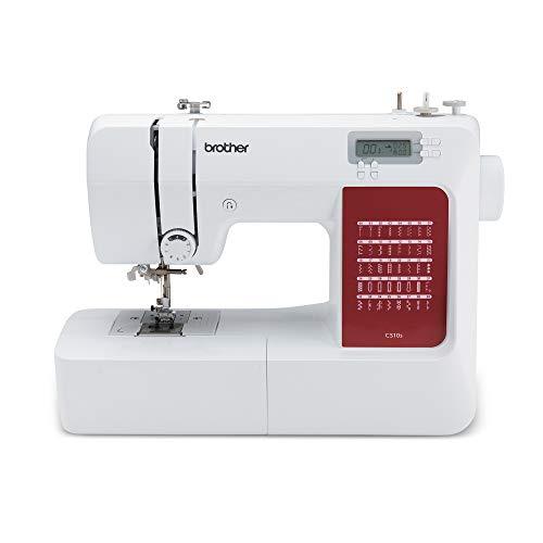 Brother CS10sVM1 CS10s Nähmaschine, Metall, Weiß, Rot, Full-size sewing machine