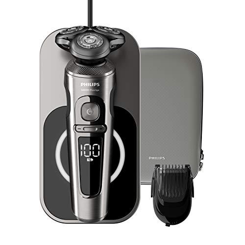 Philips SP9860/16 Elektrischer Nass- und Trockenrasierer Series 9000 Prestige mit Nano-Tech...