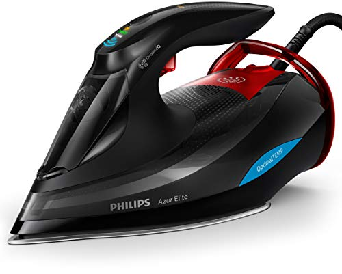 Philips GC5037/80 Azur Elite Dampfbügeleisen, DynamiQ-Sensor, 0.35 L, 3000 W, schwarz / rot