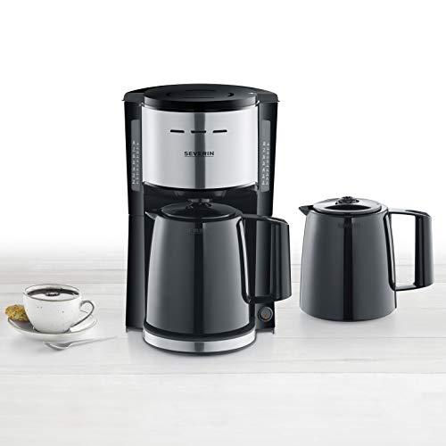 SEVERIN KA 9253 Filterkaffeemaschine mit 2 Thermokannen, ca. 1.000 W, bis 8 Tassen, Schwenkfilter 1 x 4 mit...