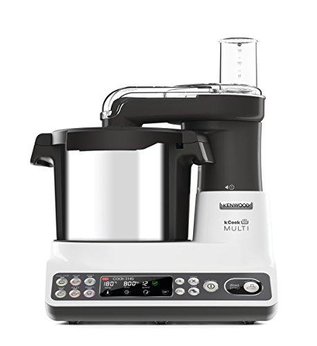 Kenwood Kcook Multi CCL401WH–Küchenmaschine mit integriertem Zerkleinerer, weiß und schwarz