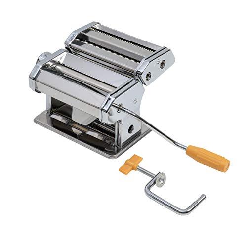 axentia Nudelmaschine verchromt, Pasta-Maker für Lasagne-Platten, Spaghetti oder Bandnudeln, manuelle...