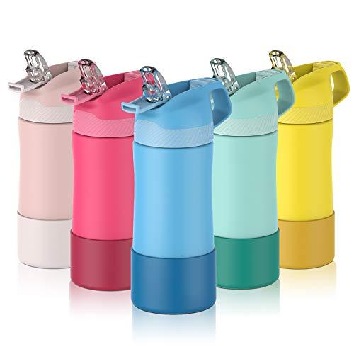 FJbottle 400ml Kinder Trinkflasche Edelstahl Vakuum Isolierte Wasserflasche BPA-frei auslaufsichere...