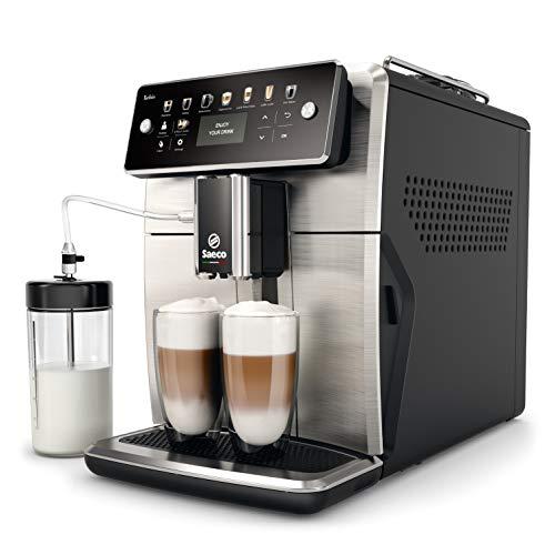 Saeco SM7583/00 Xelsis Kaffeevollautomat 12 Kaffeespezialitäten (LED-Display mit Direktwahltasten, 6...