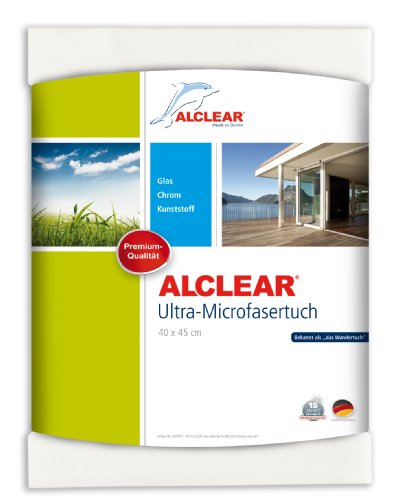 ALCLEAR 950001 Microfaser Fenstertuch - ideal als Scheibentuch zum Putzen von Auto, Haushalt, Fenster & Chrom...