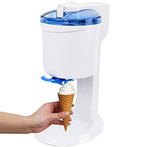 Gino Gelati GG-45W-Blue Rico 4in1 Softeismaschine, Eismaschine, Frozen Yogurt-Milchshake Maschine,...