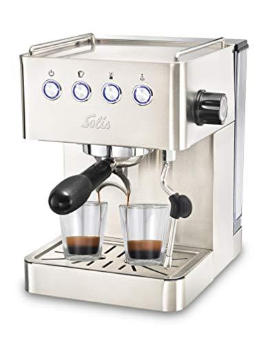 Solis Espressomaschine, Programmierbare Tassengröße, Dampf- und Heißwasserfunktion, 58 mm Profi-Siebhalter,...