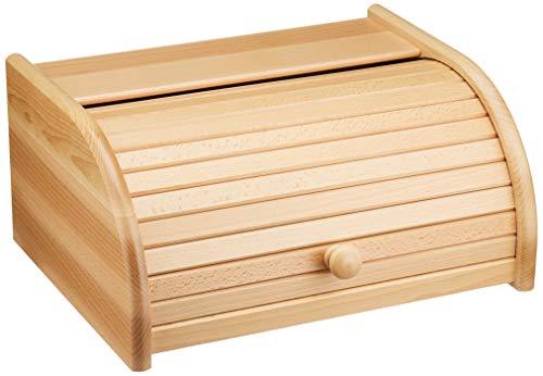 TNNature Brotkasten Buche lackiert   Holz aus nachhaltiger europäischer Forstwirtschaft (Rolldeckel Buche)