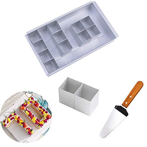 MEISHANG Zahlen Backform aus Aluminium mit Antihaftbeschichtung - Zahlen und Buchstaben Kuchenform für den...