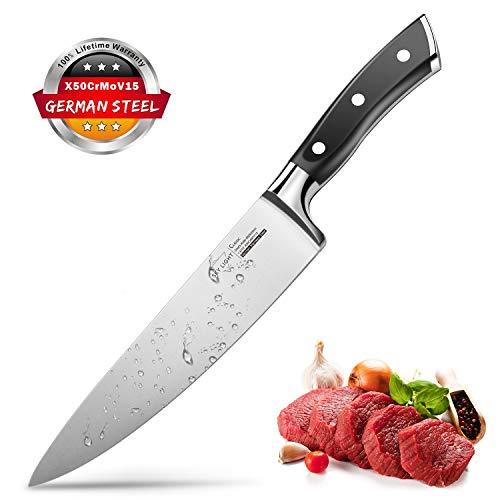 SKY LIGHT Kochmesser Küchenmesser 20cm Messer Profi Chefmesser Universalmesser aus hochwertigem Carbon...