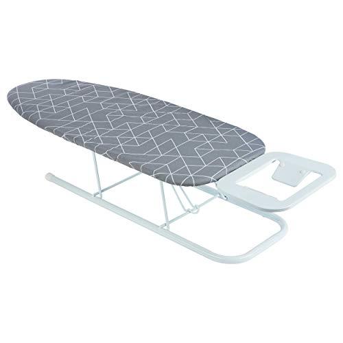 ONVAYA Tischbügelbrett   Mini Bügelbrett   Bügeltisch   Kleines, platzsparendes Bügelbrett (Muster grau)