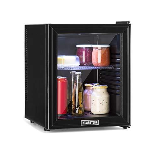 Klarstein Brooklyn 32L Kühlschrank mit Glastür - Mini-Kühlschrank, Mini-Bar, 32 L, 0 dB, 12-15 °C,...