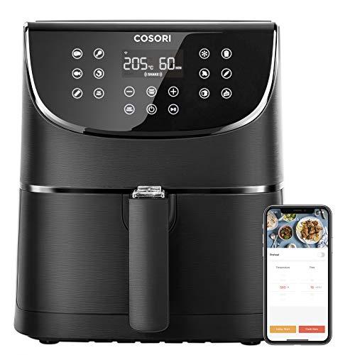 COSORI Smart WiFi Heißluftfritteuse 5,5L XXL Friteuse Heissluft Fritteusen Airfryer mit APP-Steuerung,...