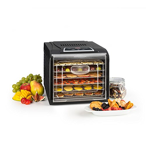 Klarstein Fruit Jerky Plus 6 - Dörrautomat, Dörrgerät, Obst-, Fleisch- und Früchte-Trockner,...