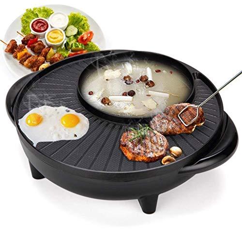 SHAAO Elektrischer Shabu Shabu Hot Pot mit BBQ, elektrische Pfanne