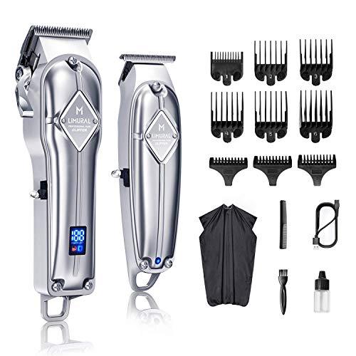 Limural Haarschneidemaschine für Männer + T-Klingen-Trimmer-Kit für schnurloses Nahschneiden,...