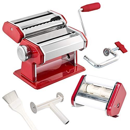 bremermann Nudelmaschine für Spaghetti, Pasta, Ravioli und Lasagne (7 Stufen), Pastamaschine, Pastamaker